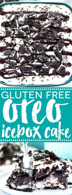This No-Bake Gluten Free Oreo Icebox Cake makes a great make-ahead summer dessert. It's so easy to make and is great for parties! Recipe from @whattheforkblog | I so need to try this dairy free!