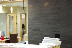 Ash Grey Basalt IL Tile | Modern Wall Tile System