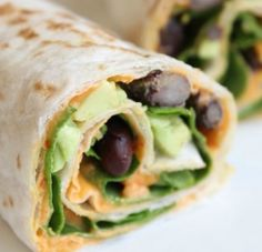 Healthy Hummus Wraps