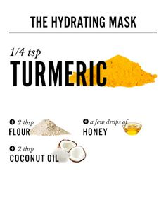 Coconut + Turmeric Face Mask for Parched Skin