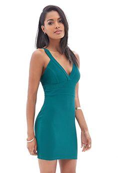 V-Neck Bodycon Dress   FOREVER21 - 2000067548