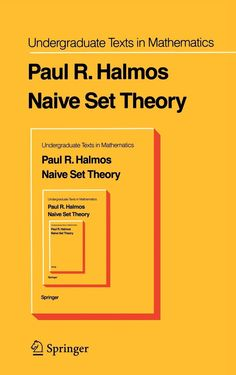 Naive Set Theory Cover in Book covers