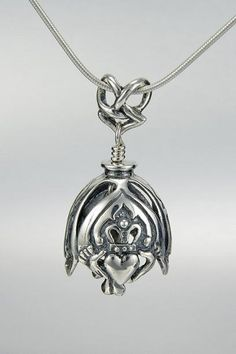 Shop our Sterling Silver Claddagh Bell Pendant. This bell necklace is handcrafted in Round Rock,TX. The Claddagh bell represents the Irish Folktale. Silver Bracelets, Sterling Silver Necklaces, Claddagh Symbol, Sister Jewelry, Silver Gifts, Pendant Necklace, Necklace Charm, Jewelry Making, Jewels