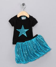 Take a look at this Blue Star Tee & Bubble Skirt - Infant, Toddler & Girls by Blow-Out on #zulily today!#zulily! #Fall Essentials
