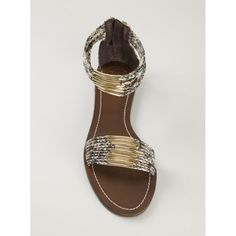 Tory Burch NWOB embellished snakeskin sandal New never worn. Too small for me. No trades. All sales final. Tory Burch Shoes Sandals