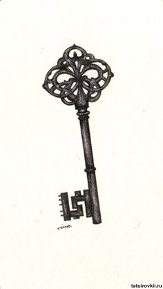 Antique Skeleton Key - something I've been thinking very long and hard about getting Antique Keys, Vintage Keys, Piercings, Piercing Tattoo, Beautiful Tattoos, Cool Tattoos, Tatoos, Rosary Tattoos, Bracelet Tattoos