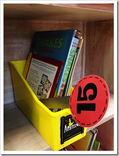 """student number bookmarks to hold the place when they """"check out"""" a book from your classroom library. brilliant!"""