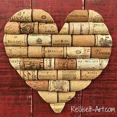 Stained Wood Pallet Sign Wine Cork Heart Rustic by ReUseItArt