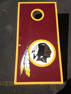 #Redskins cornhole board. Dad would love this!