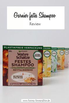 Garnier festes Shampoo - wie ein Stück Seife! Shampoo, German, Beauty, Garnishing, Wash Hair, Plastic Bottles, Sustainability, Packaging, Deutsch