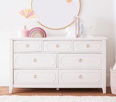 Little Girls Dresser, Girl Dresser, Nursery Dresser, Bedroom Dressers, Girls Bedroom Furniture, Girl Nursery, Dresser Styling, Extra Wide Dresser, Kids Dressers