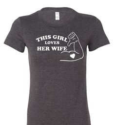 This Girl Loves Her Wife lesbian t shirt gay marriage wedding pride equality anniversary queer on Etsy, $14.95