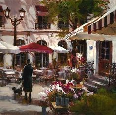 Brent Heighton Floral Promenade painting for sale - Brent Heighton Floral Promenade is handmade art reproduction; You can shop Brent Heighton Floral Promenade painting on canvas or frame. Rain Painting, Canadian Painters, Painting Competition, Romantic Evening, Art For Art Sake, Find Art, New Art, Landscape Paintings, Canvas Art