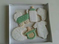 Baby shower icing cookies from #maisongermain #nantes #france