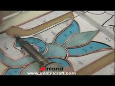 ▶ Soldering a Copper Foiled Stained Glass Panel - YouTube