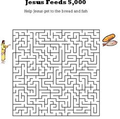 Kidsbibleworksheets Jesus Feeds 5000 Maze For Kids