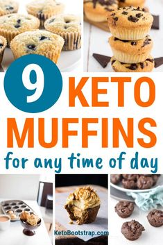 9 Healthy Keto Muffin Recipes to Make this Weekend. Recipes for the best keto muffins! Tasty breakfast or dessert muffins to help you with your ketogenic diet and lose weight! Coconut flour, almond flour and more! Keto Muffin Recipe, Simple Muffin Recipe, Muffin Recipes, Diet Recipes, Breakfast Recipes, Healthy Recipes, Muffins, Coconut Flour, Almond Flour