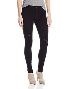 James Jeans Womens Twiggy Dancer Seamless Side Yoga Legging Jean Black Flex Distressed 28 >>> Click on the image for additional details.