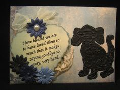 Handmade Pet Sympathy card  loss of dog by TheRescueMama on Etsy, $4.99