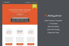 Alligator Business PSD EmailTemplate by Midnize Studio on @creativemarket