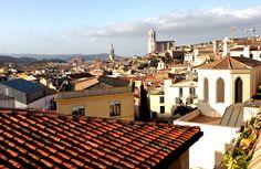 Rooftops in Banyoles, Spain