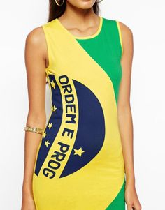 Sexey Stitching Brazilian Flag Printed Vest Dress Sleeveless World Cup Dress L #nobrand #WrapDress #Casual