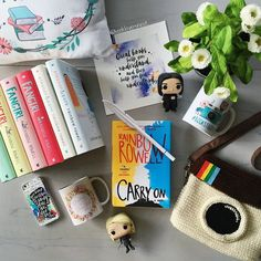 Day 11 of #lilbookishapril: Bookish merch. As you can see I don't like bookish merch. I don't like bookish merch at all. Just kidding! I love bookish merch! Like most of us I can't get enough and people like @eviebookish and @bookwormboutique who are always creating such incredible bookish designs are no help. Is it any wonder I'm on a bookish merch buying ban this month? #rainbowrowell #eviebookishdesigns #owlcrate #eleanorandpark #fangirl #carryon #yalit #yabooks #yalovin #youngadult #book…