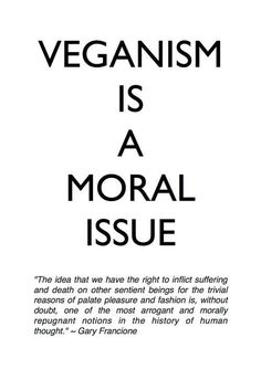 A moral issue