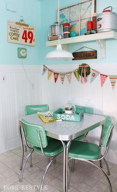 Spring 2017 Home Tour Decor Ideas - Retro Dining Set - Vintage Style