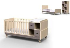 Baby cot, natural, wood, made in Italy Baby Room Design, Bed Design, Baby Bedroom, Kids Bedroom, Kid Beds, Kids Furniture, Cribs, Toddler Bed, Home Decor