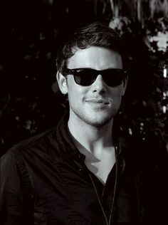 Cory Monteith.  He looks even better in black & white.