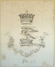 Armorial bookplate, featuring the crest of Stanley, Earls of Derby