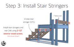 Trampoline Stairs with Slide Rogue Engineer Trampoline Steps, Best Trampoline, Backyard Trampoline, Backyard Play, Backyard For Kids, Backyard Ideas, Trampolines, Stair Slide, Pool Steps