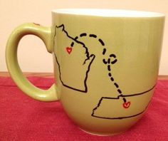 Mothers day gift: Long distance friendship mug by BellesCustomCreation on Etsy, $10.00