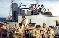 Pilots Waiting to Fly: British aircraft carrier pilots relax on deck near Indonesia while waiting for the next strike. British Aircraft Carrier, Invasion Of Poland, Merchant Navy, Royal Marines, Rest And Relaxation, Royal Navy, World History, World War Two, Picture Show