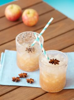 Apple juice with ginger