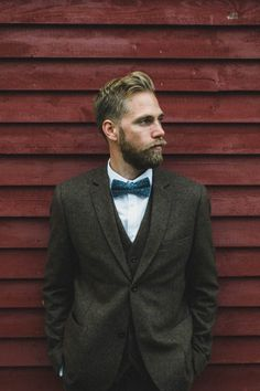 Hip turquoise bow tie and a touch of wool | Jennifer Moher Photography
