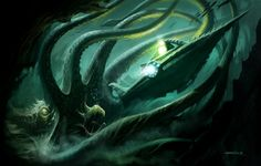 The Deep by Patrick Reilly, ~PReilly on deviantART #nautilus