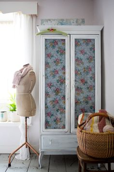 A Dreamy, Rustic, Eclectic 1729 Yorkshire Farmhouse, Bedroom detail: Ikea wardrobe revamped by Rachelle