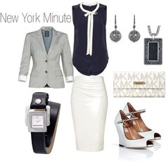 Sophisticated professional outfit. Could do without the MK clutch though.
