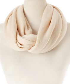 Love this Cream Knit Infinity Scarf by Rapti on #zulily! #zulilyfinds