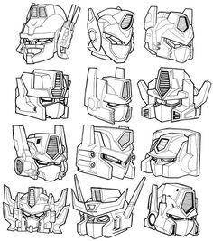 optimus prime head cartoon - Google Search Arte Robot, Robot Art, Cartoon Styles, Cartoon Art, Drawing Male Anatomy, St Michael Tattoo, Spark Art, Sketch Head, Gundam Head