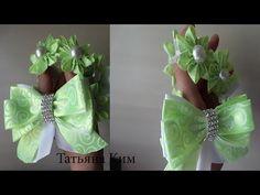 Цветок Звезда Канзаши/РЕЗИНКА НА ПУЧОК Канзаши/Flower Star of Kanzashi/ DIY Kanzashi Flower - YouTube