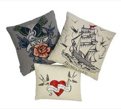 Fine-Cell charity work, cushions embroidered by UK prisoners