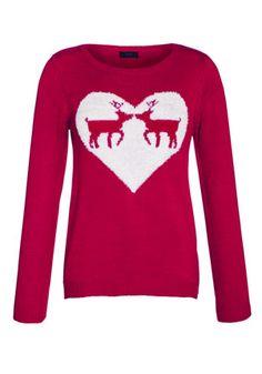 F&F Reindeer Heart Jumper