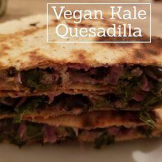 vegan kale quesadilla