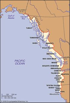 NW Coastal Indian tribal areas.