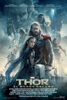 See the new movie poster for Thor 2 The Dark World starring Chris Hemsworth & Natalie Portman. The release date for the Marvel film is November Thor 2, New Thor, Frigga Thor, Chris Hemsworth, World Movies, World Tv, Wow World, Great Movies, New Movies