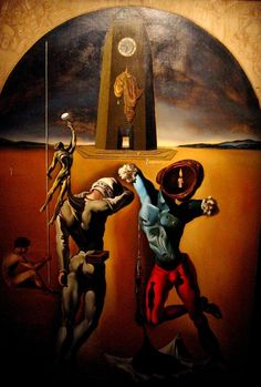 Salvador Dali paints in Figuere museum, Spain
