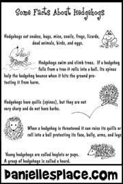 Free Downloadable Fact Sheets About Hedgehogs For A Primary